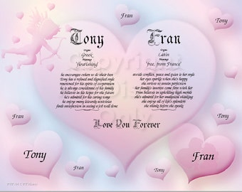Valentine Day Personalized Keepsake and Gift