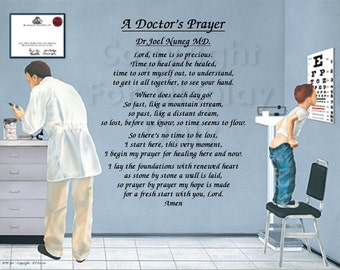 """DOCTOR""""S PRAYER Personalized Gift and Keepsake"""