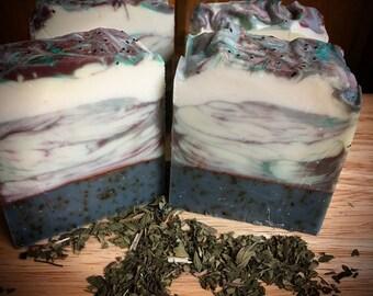 Soap Natural Vegan Spearmint Eucalyptus Organic Handmade 100% Natural