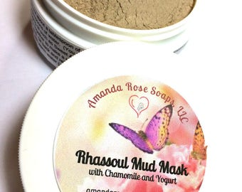 Rhassoul Mud Mask, Rhassoul Clay Mask, Natural Clay Mask, Chamomile Mask, Yogurt Mask