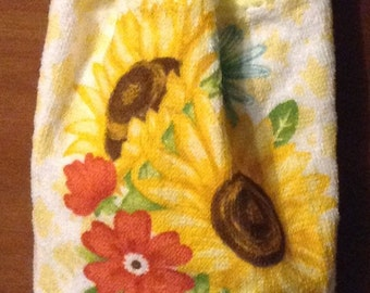 Sunflower Crochet Kitchen Hand Towel