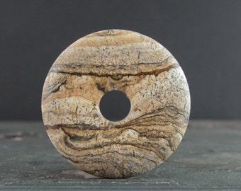 Round donuts owyhee jasper  , Natural stone making supplies S7341