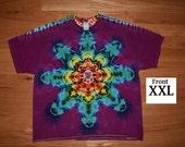 Rainbow Mandala With Raspberry Purple Background ~ C_0064 in XXL