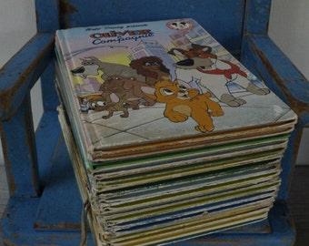 Childrens French Books....SEVENTEEN  Colourful Books....Walt Disney Stories...Shabby Chic Nursery Decor.