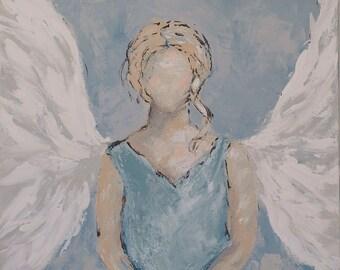 Angel Art Print | Angel | Abstract Angel |  8x8|12x12|16x16