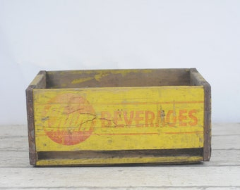Vintage Chum Beverages Wooden Crate Chum Beverages Wooden Box Chicago