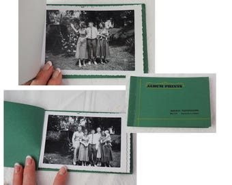 Antique Photographs- Set of Two Album Prints Booklets from the 1950's- Black and White Vintage- Nine photos