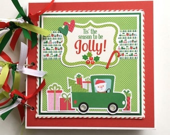 Christmas Scrapbook Kit or Premade Mini Album Pre Cut with Instructions