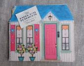 Hallmark Paper Doll Playhouse Dollhouse Greeting Card Book Vintage 1960s