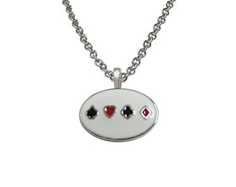 Gambling Card Suits Necklace