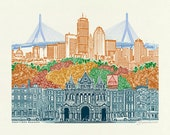 Boston Art // Art Print /...