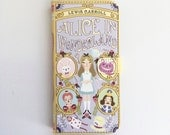 Book phone /iPhone flip Wallet case- Alice in Wonderland for iPhone 7, 6, 6 plus, 5, 5s, 5c, 4- Samsung Galaxy S7 S6, S5 , Note 4, 5, 7