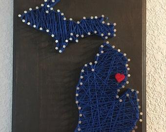 CUSTOM MADE - State String Art