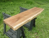 Unfinished Black Walnut Wood Slab, Save Money with Elbow Grease, Perfect for Do It Yourself, Future Finished Product, WoodWorker Delight 031