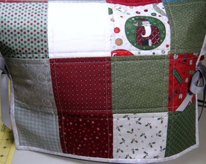 Christmas Quilted Sewing Machine Dust Cover