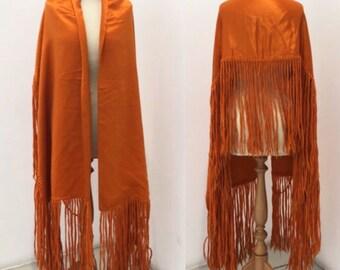 SALE! 1920s orange shawl