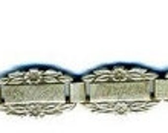 15% DISCOUNT WWII Forget Me Not Bracelet   9 Links With Names     Sterling   Item No: 14958