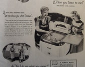 MAYTAG WASHER Advertisement Original 1940s Vintage Magazine Ad Laundry Room Decor Ready To Frame Additional Ads ship FREE