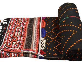 Genuine Vintage Kutch Rabari Banjara Shawl Woolen Odhni EM80