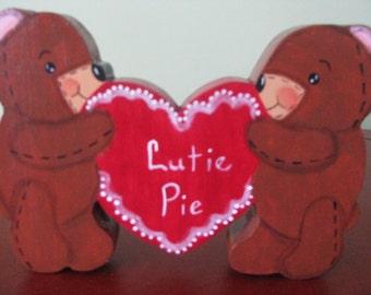 Bears, Valentine bears, Valentine's Day, hearts, shelf sitters, hostess gift