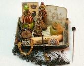 Witch beauty tray OOAK Dollhouse scale 1/12