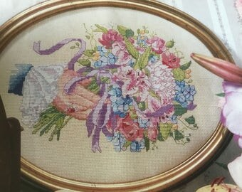 VICTORIAN BOUQUET - Cross Stitch Pattern Only