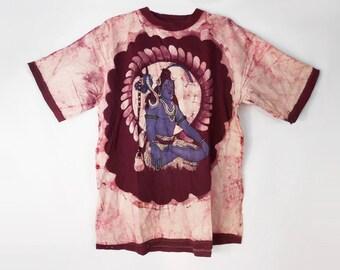 Boho T Shirt/ Grunge T Shirt/ Hindu/ Meditation Clothing/ Hamsa Shirt/ Krishna/ Hare Krishna/ Hindu God/ Hippie T Shirt/ India Clothing