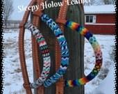 Headstall, One ear headstall, Horse tack, Horse headstall, Horse accessories, beaded tack, beaded headstall, custom beaded tack, horse gifts