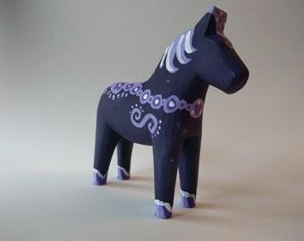 Purple Rain Dala Horse - A Prince Tribute