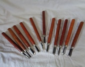 Vintage Lot of 11 Wood Carving Tools Knives