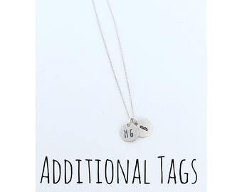 ADDITIONAL TAGS for the little disc necklace