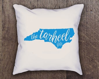 North Carolina The Tarheel State Pillow Cover - Graphic Pillow Sham - Custom Linen Pillow Cover - Pillow Cover - Southern Girls Collection