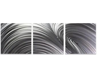 Wave Metal Art 'Fusion Triptych Large' by Nicholas Yust - Modern Wall Decor Minimalist Artwork on Metal or Acrylic