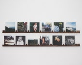 Handcrafted Photo Rail - Walnut or Maple - Photo Display Shelf - Christmas Gift