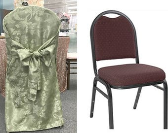 Royal Sage, green Chair Cover for CLEARANCE/ wedding chair cover/ Unique chair cover/ banquet chair cover