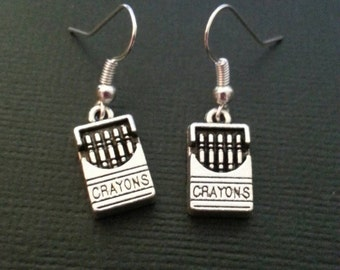 Silver Crayon Earrings