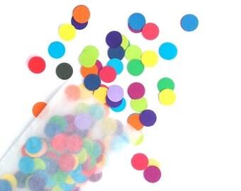Rainbow Dot Confetti - Eco friendly - Wedding Confetti - Party Decorations - Table Confetti - Colourful Confetti - Circle Confetti - Rainbow