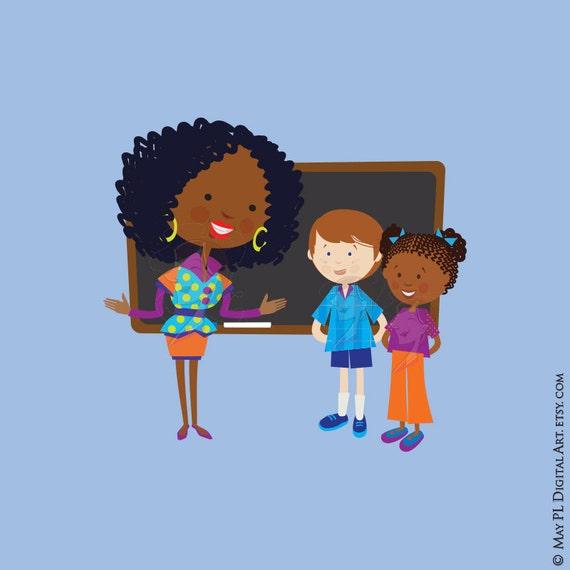 black teacher clipart - photo #22