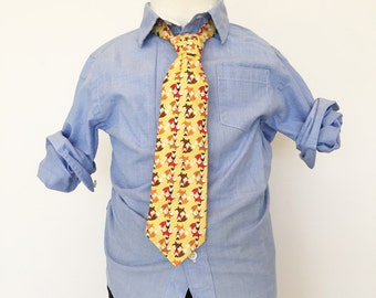 Fox Necktie in Gold and Brown