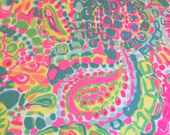 Cotton dobby Come Out Of Your Shell Spring 2017   18 X 18 inches  ~Lilly Pulitzer~