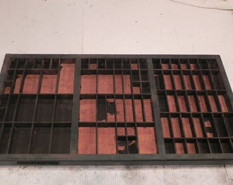 NOW ON SALE!!! Vintage Letterpress Printer's Drawer Type Case Shadow Box