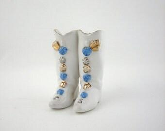 Vintage Japanese Boots Figurine, Porcelain Figure, Asian Collectible