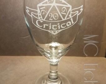 D20 Critical Goblet