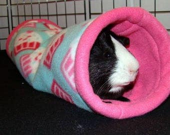 Custom Fleece Tunnel hedgehog guinea pig ferret rat rabbit hamster and other small animals cavy