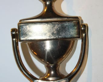 Vintage Solid Brass Door Knocker, Home Decor, Front Door, Home, House, Vintage Patina, Housewares, Gold Tone In Color
