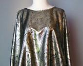 Metallic Foil Top / Vtg 7...