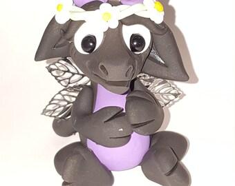 Cute polymer clay flower dragon