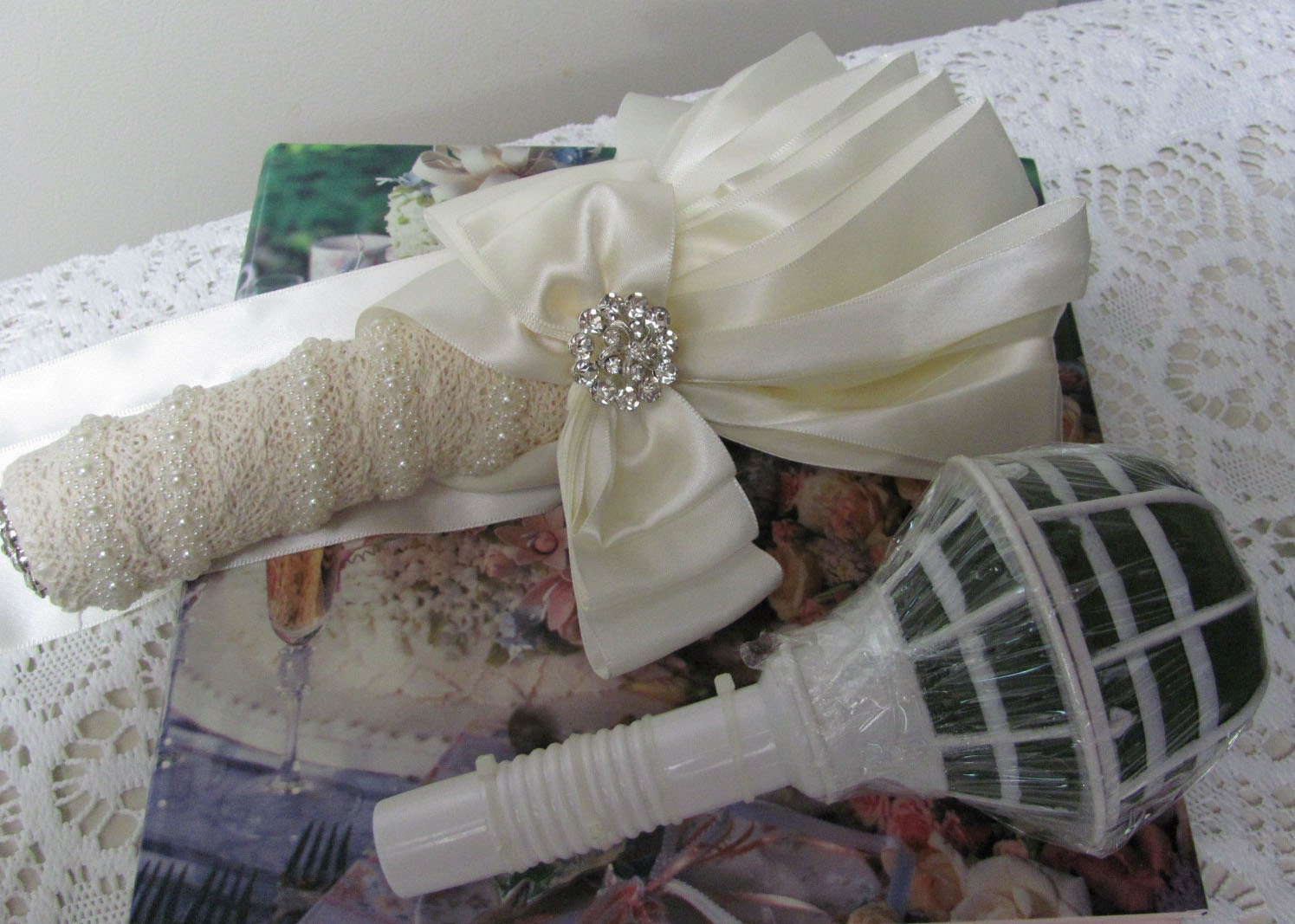 Bridal Bouquet Handle, Wedding Bouquet Holder, DIY Bouquet ...