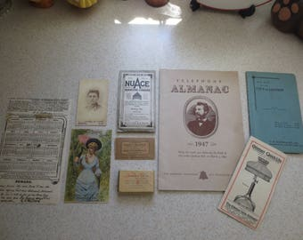 Vintage Lot of Ephemera Great For Junk Journal - collage - Mixed Media Art