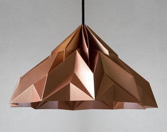 MAKE A WISH origami lampshade pendant satin-copper